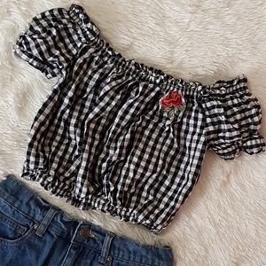 NWOT‼ 🌹CHECKERED PLAID GINGHAM CROP TOP